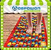 Коврик для детей массажный с цветными камнями 200х40 см
