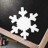 Снежинка из пенопласта, 19 см
