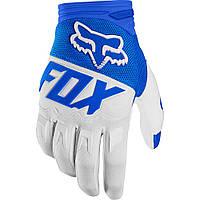 Мото перчатки FOX DIRTPAW RACE Glove сине-белые , XL (11)