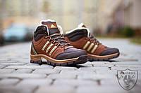 Кроссовки мужские зимние (адидас) Adidas brown (реплика)