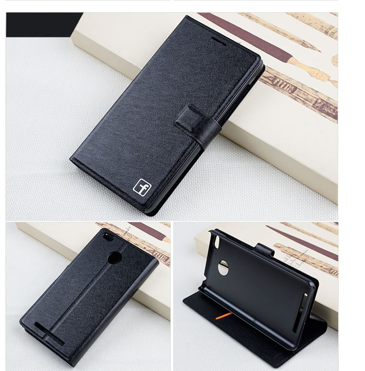 Чехол Xiaomi Redmi 3S / Redmi 3S Pro / Redmi 3 Pro книжка Flower Ultrathin черный