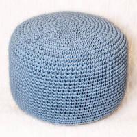 Пуф Голубой из декоративного шнура