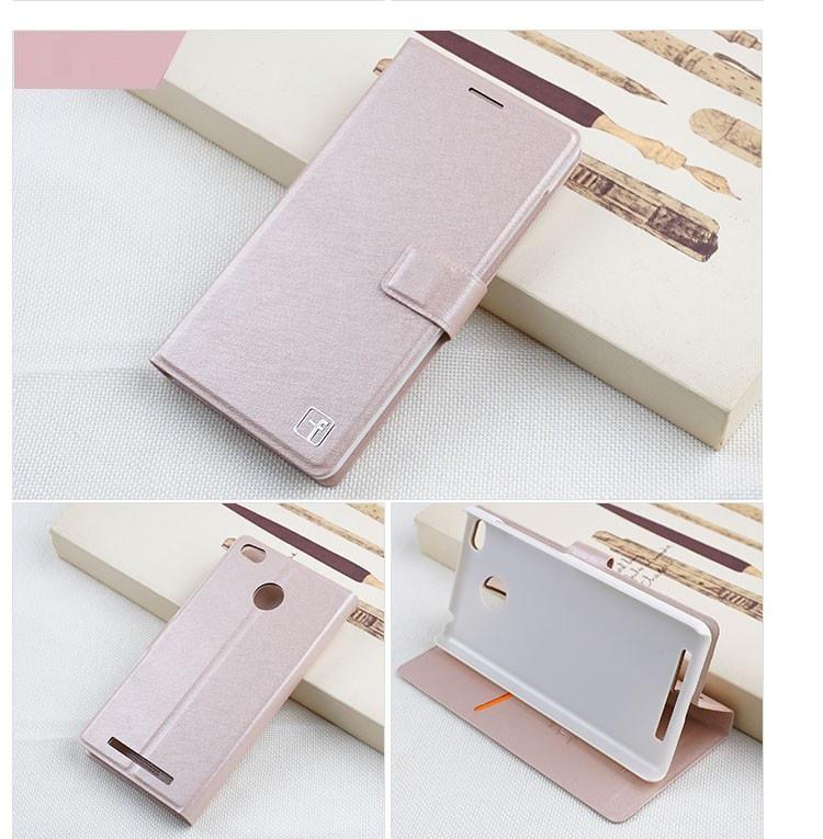 Чехол Xiaomi Redmi 3S / Redmi 3S Pro / Redmi 3 Pro книжка Flower Ultrathin розовое золото
