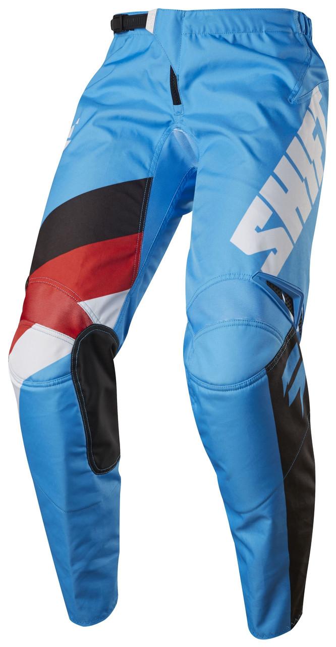 Мото штаны Shift Whit3 Tarmac синий, 32