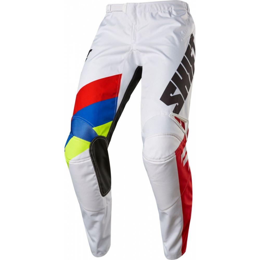 Мото штаны Shift Whit3 Tarmac белый, 32