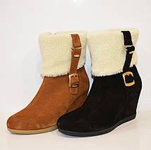 Женские коричневые ботинки Kluchini 2065, фото 3