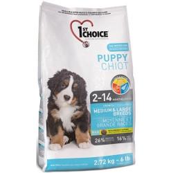 1st Choice PUPPY MEDIUM & LARGE 2.72 кг - корм для щенков средних и крупных пород (курица)