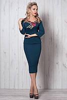Нарядный женский костюм от производителя морская волна размер 50