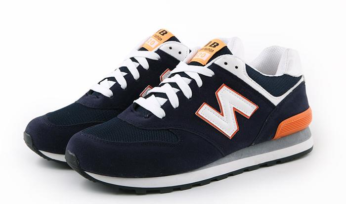 Кросівки синьо-помаранчеві в стилі New Balance 520