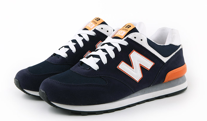 Кроссовки в стиле New Balance 520 сине-оранж.