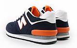Кроссовки в стиле New Balance 520 сине-оранж., фото 2