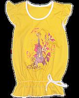 Детская летняя футболка-туника, интерлок (хлопок), ТМ Лиза-Текс, р. 98 Украина