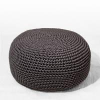 Пуф Серый из декоративного шнура