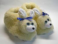 """Домашние тапочки женские """" Зайчик"""" из овчины для дома"""