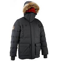 Куртка мужская зимняя водонепроницаемая Quechua ARPENAZ 1000 RAINDOWN темно- серая
