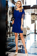 Стильное женское  платье-туника электрик Кобби Jadone  42-50 размеры