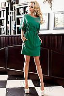Стильное женское бирюзовое платье-туника Кобби Jadone  42-50 размеры