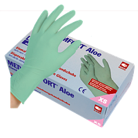 Перчатки латексные, без пудры Med-Comfort ALOE100 шт/уп.