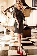 Стильное женское  серое платье-туника Кобби Jadone  42-50 размеры