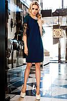 Стильное женское  темно-синее платье-туника Кобби Jadone  42-50 размеры