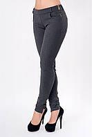 Очень удобные теплые женские брюки средняя посадка с молнией по бокам