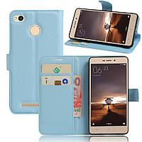 Чехол Xiaomi Redmi 3S / Redmi 3S Pro / Redmi 3 Pro книжка PU-Кожа голубой