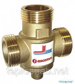 "Термостатический трёхходовой клапан Giacomini 1 1/4"" (55 °C), Kv 9 - DN32"