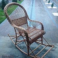 """Кресло-качалка из лозы""""Веер"""""""