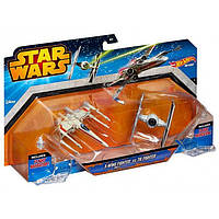 Игровой набор из 2-х звездолётов Hot Wheels серии Звёздные войны, в ассортименте Арт. CGW90