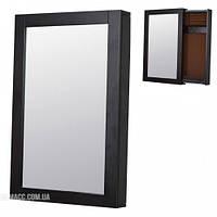 Настенное зеркало-слайдер с секцией для хранения