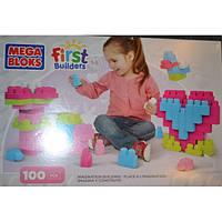 Конструктор Mega Bloks FIRST BUILDERS 100шт розовый
