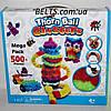 Мягкий конструктор липучка Bunchems 500 деталей, детская игрушка Банчемс