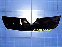 Зимняя заглушка решётки радиатора Skoda Oktavia A5 верх 2009-2013 глянец Fly.Утеплитель решётки Шкода Октавия