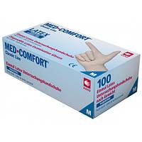 Перчатки латексные Премиум без пудры, Ampri Med Comfort  6,5г, 100 шт/уп.