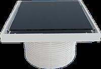 Надставка для трапа cо стеклянной решеткой или под плитку (BLACK) 150х150 мм STY-505-GFF