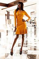 Женское замшевое  горчичное платье Харси Jadone  42-50 размеры