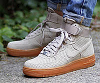 Мужские кроссовки  Nike Air Force 1 high (grey/brown) - 48Z