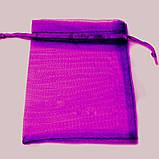 Мешочек из органзы 9х12 см Фиолетовый, фото 2