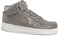 Мужские кроссовки  Nike Air Force 1 high leather (grey) - 58Z