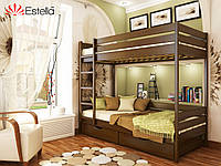 Деревянная Кровать двухъярусная «Дуэт» Эстелла (ЩИТ)