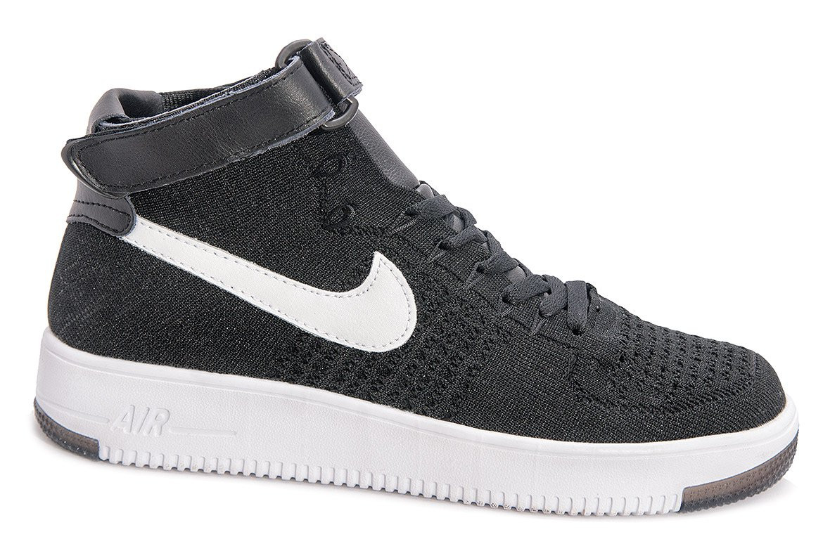 8bf09d32 Мужские кроссовки Nike Air Force 1 high Flyknit (black/white) - 62Z