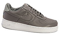 Мужские кроссовки  Nike Air Force 1 low leather (grey/white) - 17Z