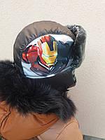 Детская зимняя шапка ушанка Трансформер
