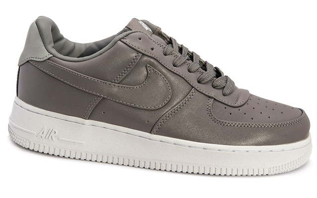 Мужские кроссовки  Nike Air Force 1 low leather (grey/white) - 17Z оригинал