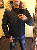 Куртка мужская с мехом енота ЗИМА  ро1060, фото 1