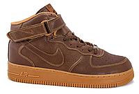 Мужские кроссовки  Nike Air Force 1 high (brown) - 23Z