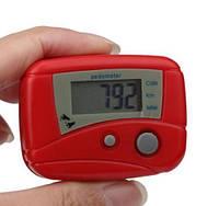 Шагомер 2 педометр pedometer счетчик шагов крокомір красный, фото 1