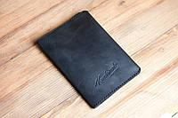 Кожаная обложка для паспорта Knockwood- Leeds, Black