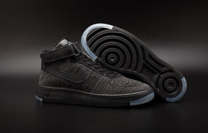 136247f3 ☆ Купить Мужские кроссовки Nike Air Force 1 high Flyknit (black ...