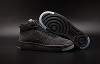 Мужские кроссовки  Nike Air Force 1 high Flyknit (black) - 29Z